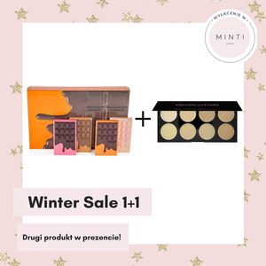 I Heart Revolution Zestaw paletek do makijażu Mini Chocolate Vault Heart 2019 + Makeup Revolution REVOLUTION Paleta korektorów LIGHT