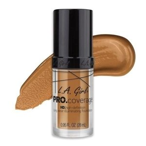 L.A. Girl PRO.Coverage HD Long Wear Illuminating Liquid Foundation Podkład do twarzy 651 Bronze