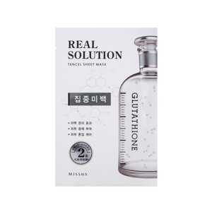 Missha Real Solution Tencel Sheet Mask Glutathione - Pure Whitening Maseczka do twarzy w płacie
