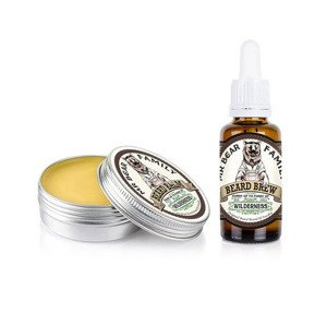 Mr Bear Family Beard Balm & Oil Wilderness Zestaw Brodacza