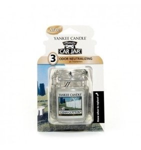 Yankee Candle Car Jar Ultimate Zapach do samochodu Clean Cotton