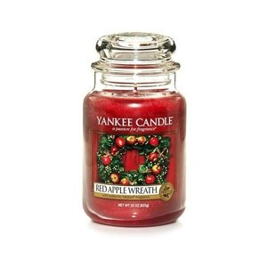 Yankee Candle ŚWIECA W SŁOIKU DUŻA Red Apple Wreath