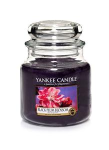 Yankee Candle ŚWIECA W SŁOIKU ŚREDNIA Black Plum Blossom