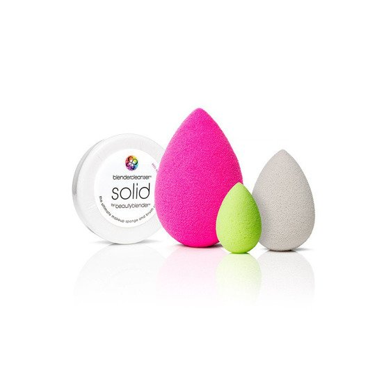 BeautyBlender all.about.face™ 3 gąbki i mydełko Solid