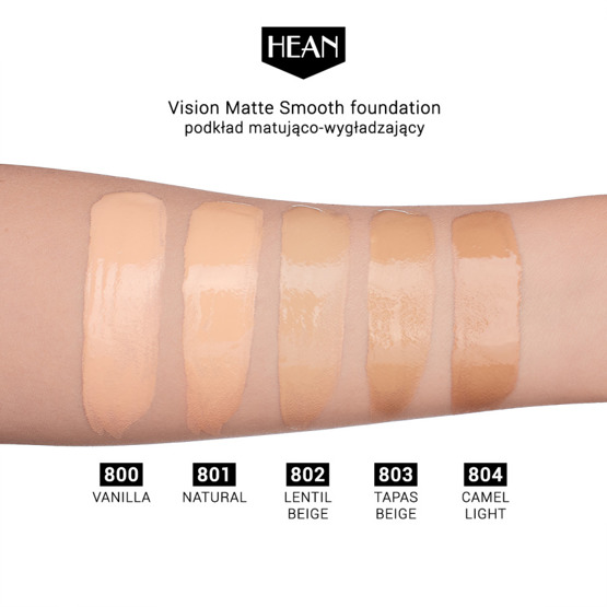 Hean Podkład VISION Matte Smooth 804 Camel Light