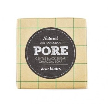 Klairs  PORE Gentle Black Sugar Charcoal Soap Delikatne mydło do twarzy 120g