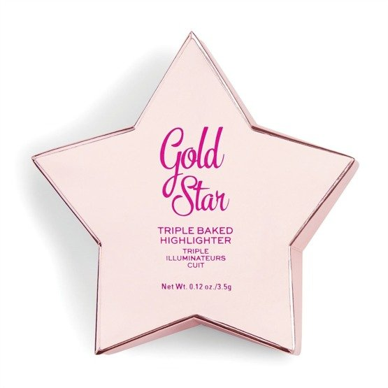 Makeup Revolution Rozświetlacz do twarzy Star of the Show Highlighter Gold Star