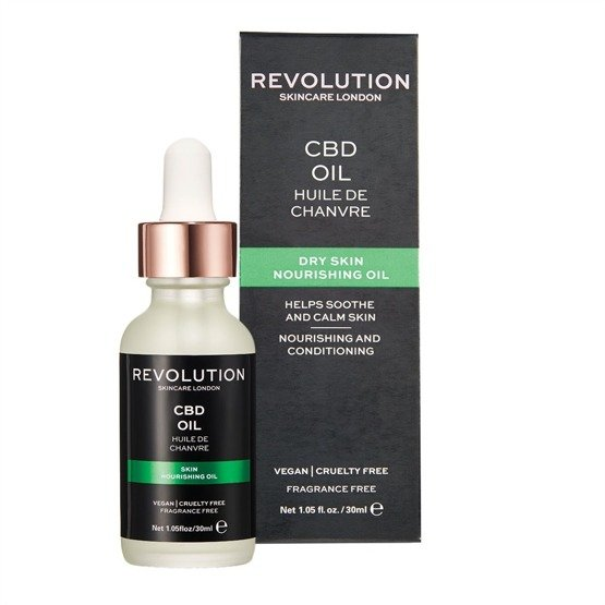Revolution Skincare Nourishing Oil - CBD OIL Odżywcze serum do twarzy 30ml