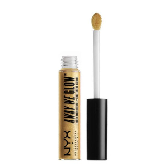 NYX Professional Makeup Away We Glow Liquid Highlighter Rozświetlacz do twarzy w płynie 03 Golden Hour