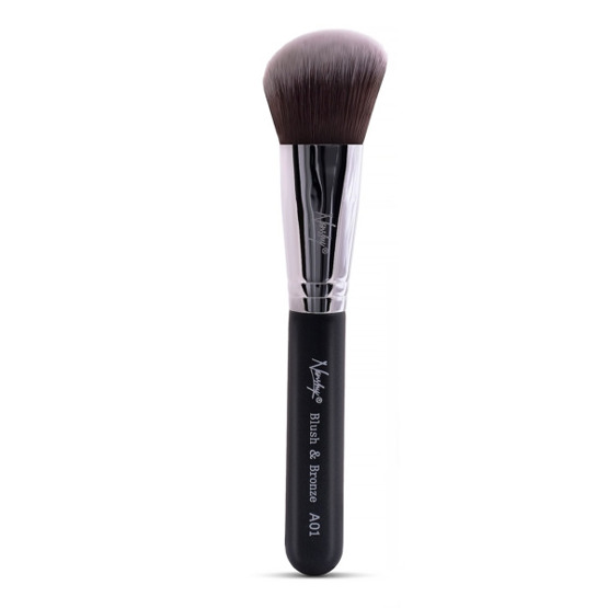 Nanshy Angled Brush - Blush&Bronze Black A02 Pędzel do konturowania