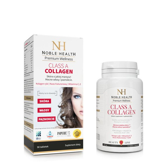 Noble Health KOLAGEN W TABLETKACH CLASS A COLLAGEN 90 tabletek
