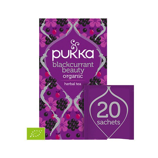 Pukka Herbata Blackcurrant Beauty - 20 saszetek