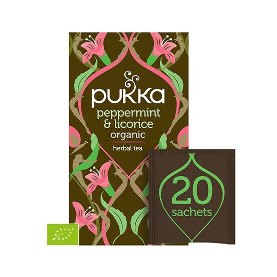 Pukka Herbata Peppermint & Licorice - 20 saszetek